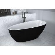 Черно-белая Goya B&W 160 ванна из литого мрамора