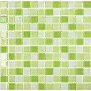 Смесь мозаики Crystal S-4512,5х2,5 см завода NsMosaic как зеленое яблоко