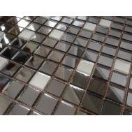 DM20 зеркальная мозаика Perla (матовое серебро 10%, графит 90%)