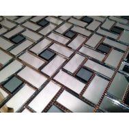 Зеркальная серо-серебряная мозаика  SD42 Deco