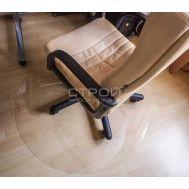 Круглый защитный коврик под кресло гладкий и шагрень