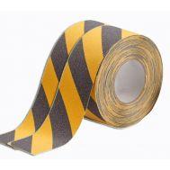 Сигнальная клейкая желто черная лента