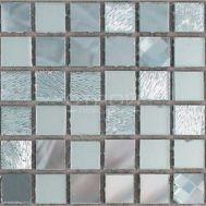 Микс из серебряной зеркальной мозаики
