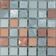 Микс из зеркальных чипов мозаики