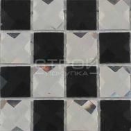 Мозаика из зеркальных страз шахматкой
