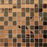 Микс бронзовой зеркальной мозаики