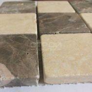 Мозаика из натурального камня светло-коричневая