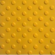 Желтая тактильная плитка ПВХ с конусами для помещений