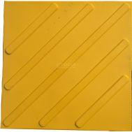 Тактильная плитка ПВХ диагональ для использования внутри помещений