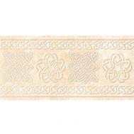 Декорированный кремовый подступенник Stone Cream 15x33 см
