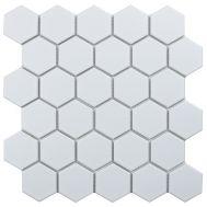 Hexagon small White Matt 5,1х5,9 см керамическая матовая мозаика