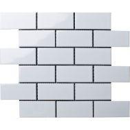 Brick White Glossy керамическая мозаика под кирпич