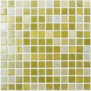 Lux 401 зелёная мозаика Vidrepur на сетке