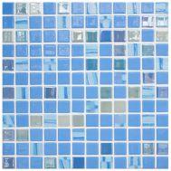 Стеклянная мозаика Vidrepur Astra Blue с рельефной поверхностью.