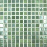 Lux 420 зелёный микс высокоглянцевой мозаики Vidrepur
