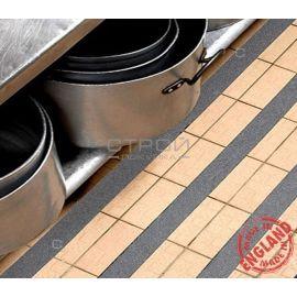 Серая виниловая противоскользящая лента Aqua Safe на кухне.  Ширина полоски 5 см