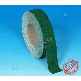 Зеленая противоскользящая лента в катушке шириной 5 сантиметров