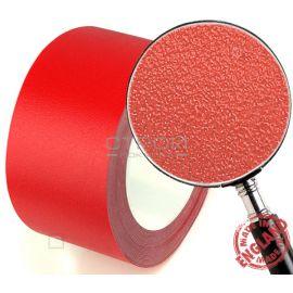 Красная лента виниловая самоклеющаяся Resilient, с противоскользящим эффектом. Ширина: 10 см, Длина: 9 метров