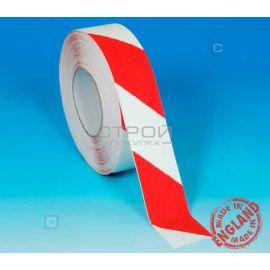Лента самоклеющаяся красно-белая против скольжения шириной 5 см