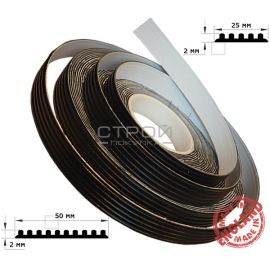 Размеры ленты резиновой противоскользящей самоклеющейся.