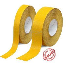 Желтая противоскользящая лента шириной 2,5 и 5 сантиметров