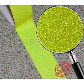 Флуоресцентная желтая самоклеющаяся лента противоскользящая (лимонная)