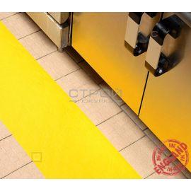 Желтая лента виниловая самоклеющаяся, противоскользящая Resilient, Ширина: 10 см, Длина: 18,3 метра
