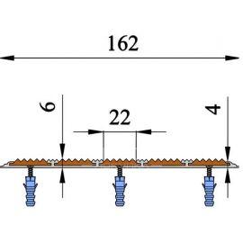 Технические размеры алюминиевой полосы с 5 вставками — Next АП-162.