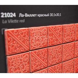 21024 | Ла-Виллет красный прессованная мозаика 30,1х30,1 см Керама Марацци