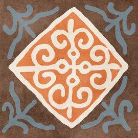 Африка mix Н1Б010 18,6х18,6 см декор напольный матовый блеск