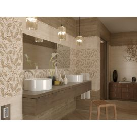 Коллекция плитки Travertine Mosaic завода GoldenTile в интерьере