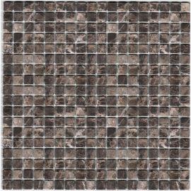 Dark Emperador мозаика из камня 1,5х1,5 см