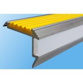 Профиль для ступеней с подсветкой и противоскользящей вставкой GlowStep45.