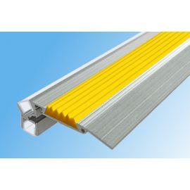 Алюминиевый профиль для подсветки ступеней GlowStep-52 с светодиодной подсветкой длинной 1 м и 2 м.