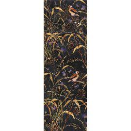 Декор Астория Птицы черный обрезной 25х75 см настенная плитка