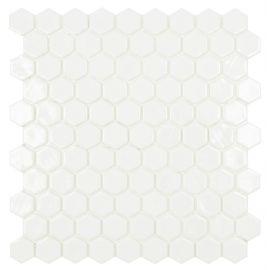 Hexagon Hex № 100 мозаика белая сотамиHexagon Hex № 100 мозаика белая сотами