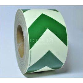Бело-зеленая светящаяся лента со стрелками