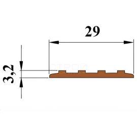 Размеры противоскользящей резиновой полосы Next П29.