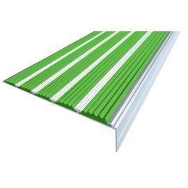 Зеленый противоскользящий порожек  угловой NEXT АНУ162-5 с пятью вставками.