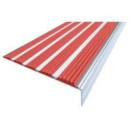 Красный противоскользящий порожек  угловой NEXT АНУ162-5 с пятью вставками.
