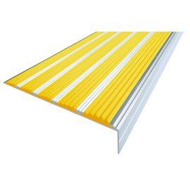 Желтый противоскользящий порожек  угловой NEXT АНУ162-5 с пятью вставками.