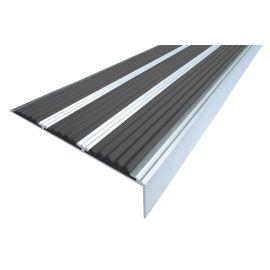 Алюминиевый угол для ступеней Next АНУ98-3 - угол с тремя вставками 98 мм/6,5 мм/22,4 мм, 11 цветов.