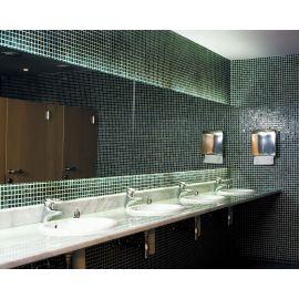 Мозаика Niebla 2502-A 2,5х2,5 см дымчато-зеленого цвета в интерьере