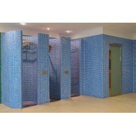 Мозаика Niebla 2505-A 2,5х2,5 см синего цвета завода Ezarri для душевых