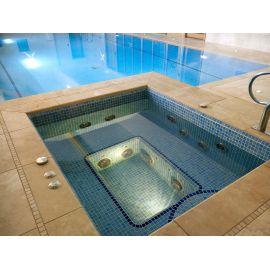 Мозаика Niebla 2505-A 2,5х2,5 см голубого цвета завода Ezarri для бассейна