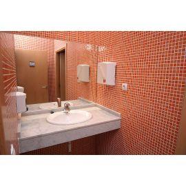 Мозаика Niebla 2506-C 2,5х2,5 см красного цвета завода Ezarri в интерьере