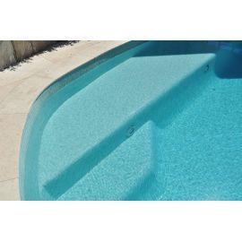 Мозаика Niebla 2529-B 2,5х2,5 см дымчато-мятного цвета завода Ezarri морозостойкая для бассейнов