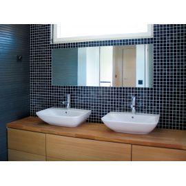 Мозаика Niebla 2501-B черная2,5х2,5 см из стекла завода Ezarri  для кухонного фартука