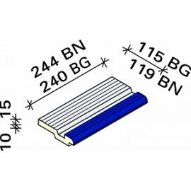 Рукохват с маркером Interbau RP6 244x119x15/25 №690-788 серо-желтый RH C