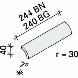 Радиальная планка Interbau R2 244x r30x7,5 №781 лазурный